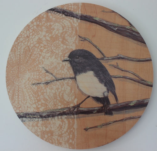Round Ply Bird Wall Art - Robin