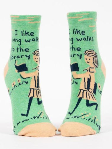 Womens Ankle Socks - Long Walks Library