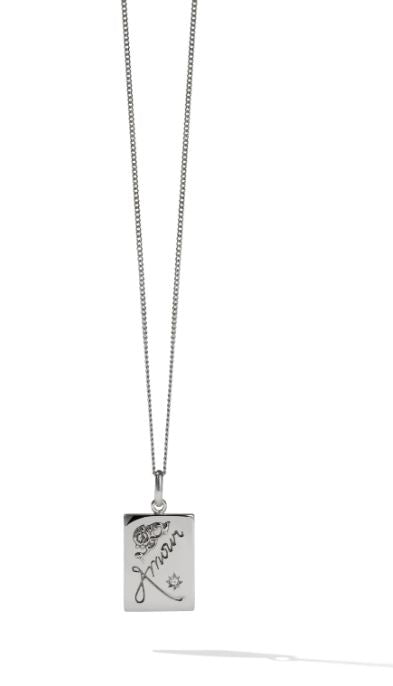 Amour Necklace w/ Reclaimed White Diamond
