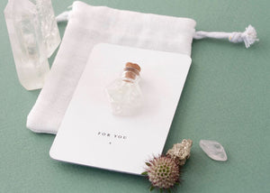 Crystal Gift Card - Clear Quartz