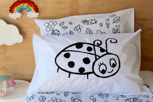 Load image into Gallery viewer, Ladybug Pillow Case