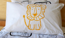 Load image into Gallery viewer, Yellow Lion Pillowcase