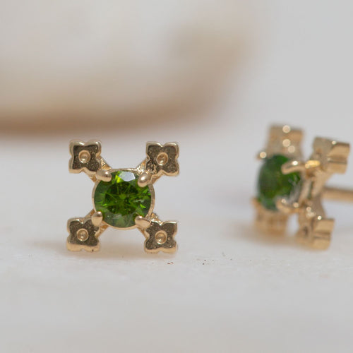 Izil Earrings w/ Chrome Diopside