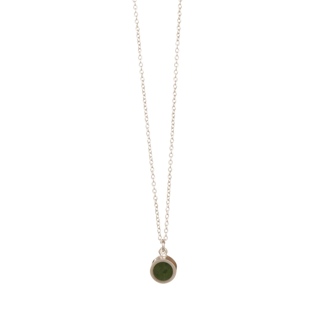 Pounamu Tiny Disc Necklace