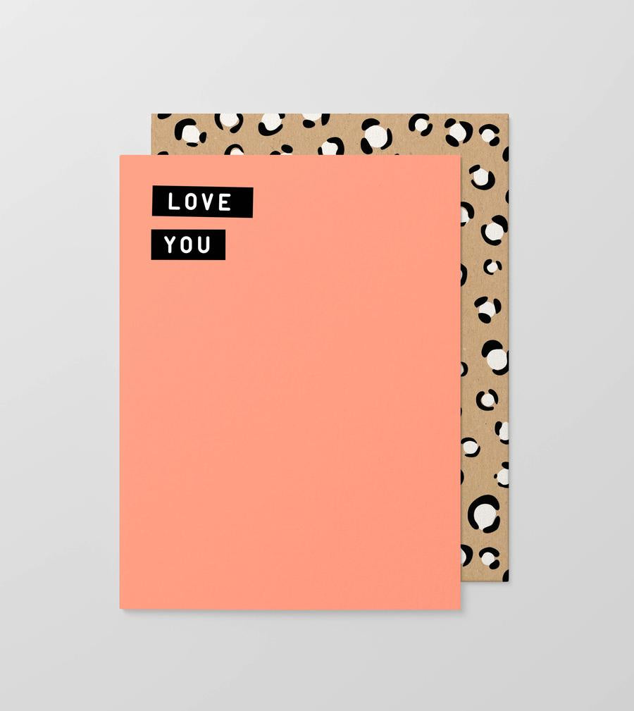 Love You Fluro Gift Card