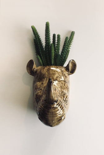 Rhino Wall Vase / Planter