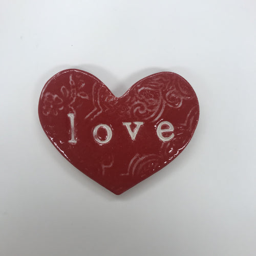Love Wall Heart - Red