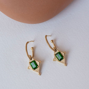 Anastasia Earrings w/ Chrome Diopside