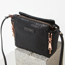 Load image into Gallery viewer, Ascendants Bag - Black Bubble & Rose Gold