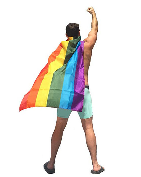 Gay Pride Flag Cape