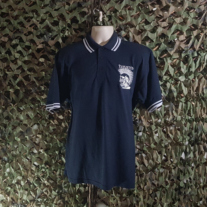 The Exploited - Navy Polo with White Trim