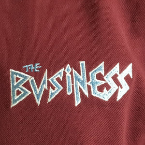 The Business - Claret Polo with Light Blue Trim