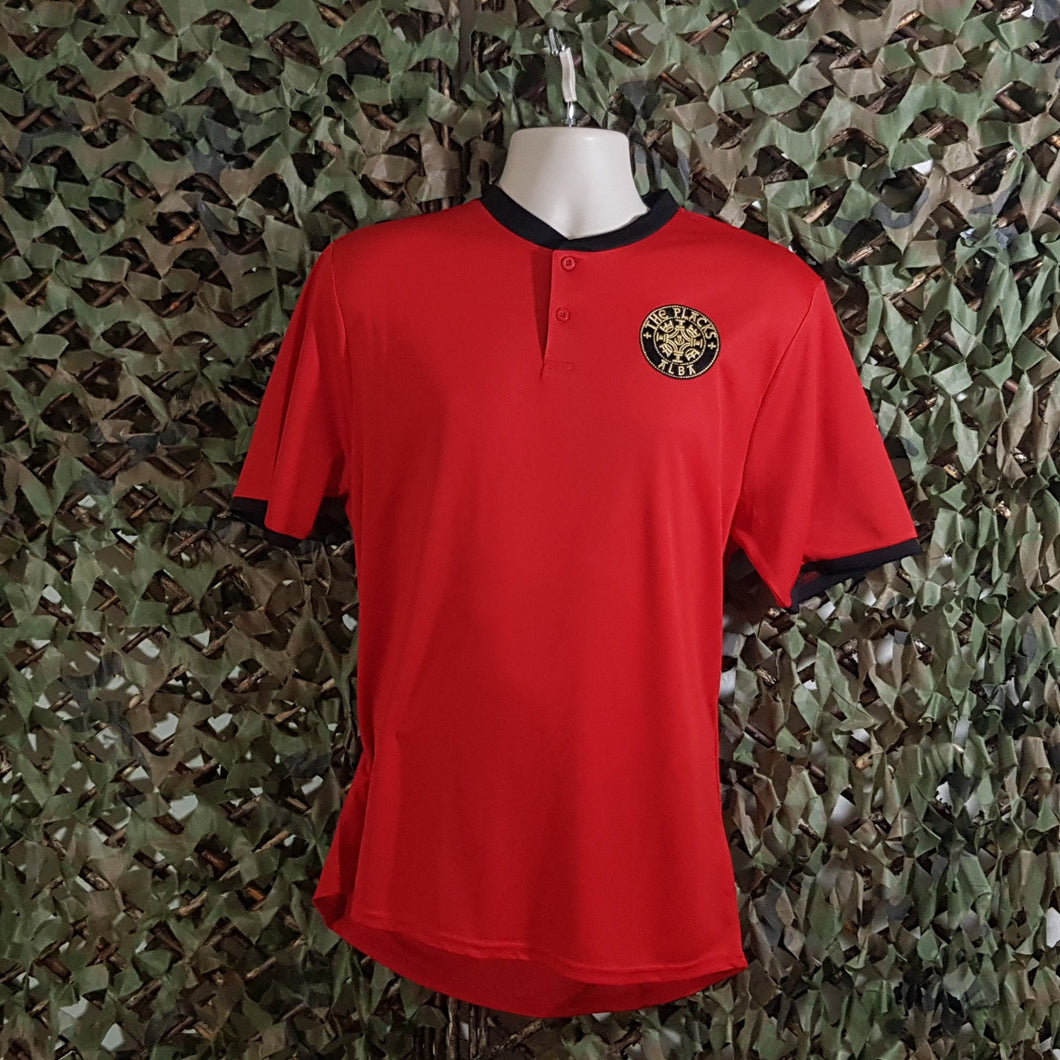 The Placks - Red Sports Tee with Black Trim