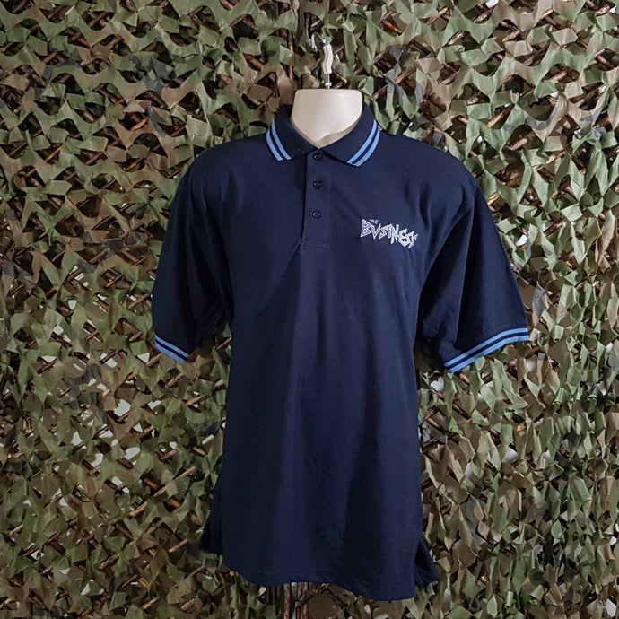 The Business - Navy Polo with Light Blue Trim