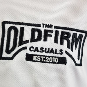 The Old Firm Casuals  - White Sports Tee with Black Trim
