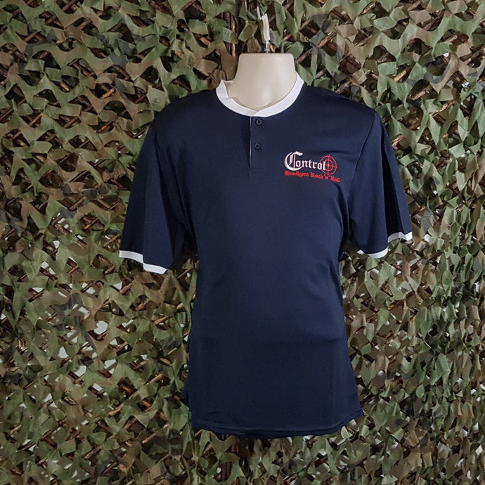 Control -  Navy Sports Tee with White Trim
