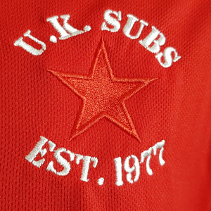 UK Subs -  1977 - Red Sports Tee with Black Trim