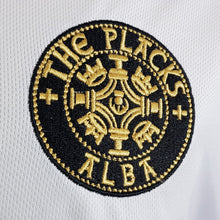 The Placks - White Sports Tee with Black Trim