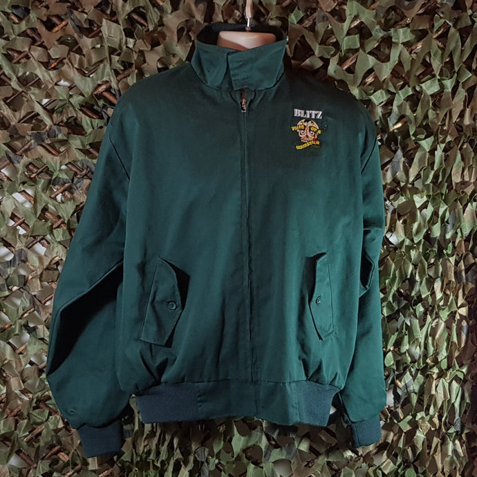 Blitz - Voice of a Generation - Bottle Green Harrington With Front & Back Embroidery
