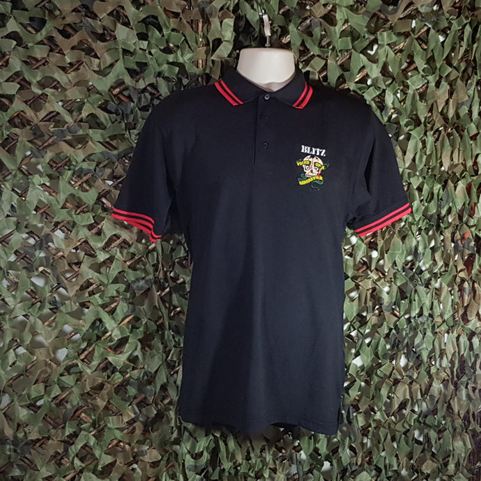 Blitz - Embroidered Polo - with red trim