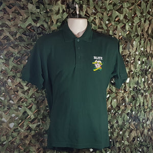 Blitz - Men's Bottle Green Polo with Embroidery