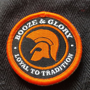 Booze & Glory - Flat Cap - with embroidered patch