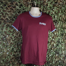 The Business - Classic Ringer Tee - Claret & Blue