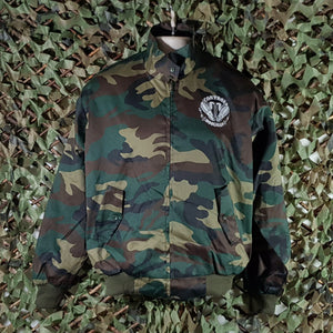Control - Camouflage Harrington Jacket With Embroidered Logo