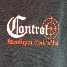 Control - Embroidered Polo - Black with Red Trim
