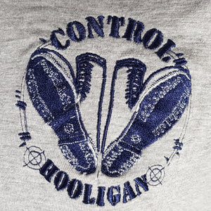 Control - Ringer Tee with Embroidered Logo