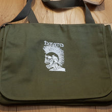 The Exploited - Skull Logo  - Military Green Canvas Messenger Bag