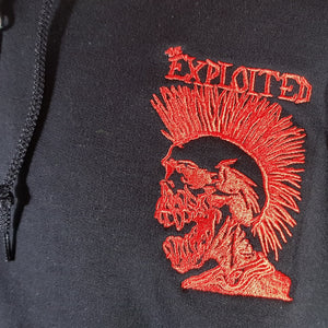 The Exploited - Zip Hoodie - w/ Front & Back Embroidery