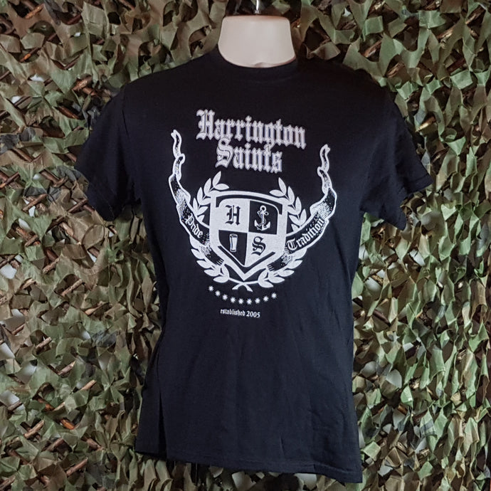 Harrington Saints - Men's Black Logo T-Shirt