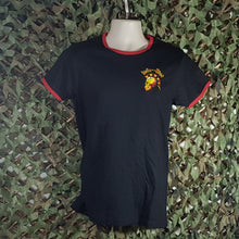 Infa Riot - Ringer Tee with Skull Logo Embroidery