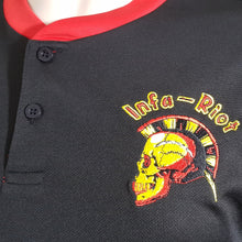 Infa Riot  - Black Sports Tee with Red Trim
