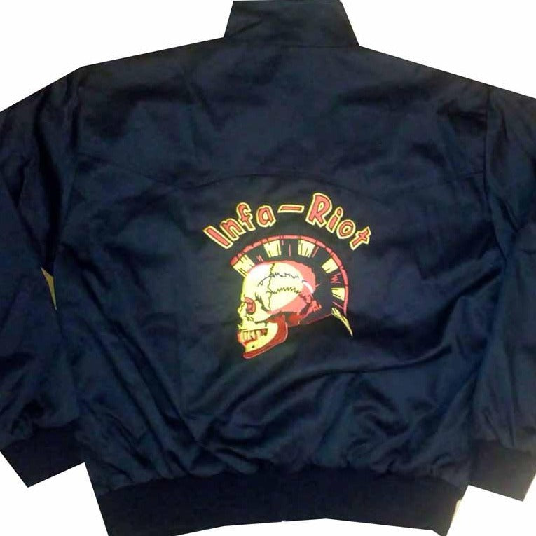 Infa Riot Black Harrington With Back Embroidery