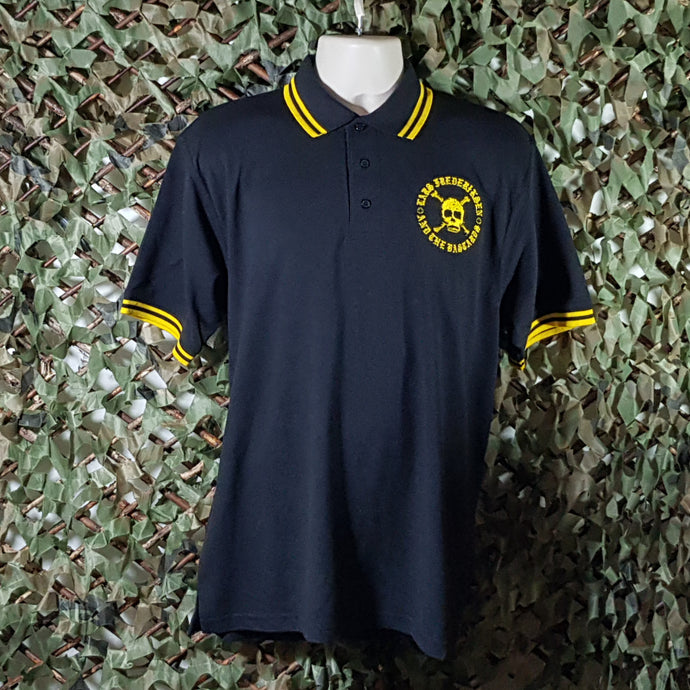 Lars Frederiksen & The Bastards - Black Polo with Yellow Trim