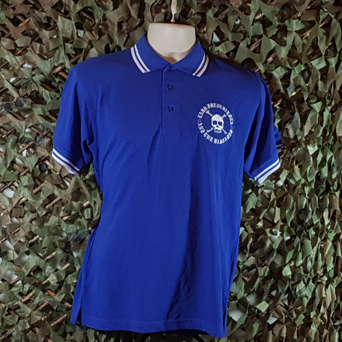 Lars Frederiksen & The Bastards - Royal Blue Polo with White Trim and White Embroidery