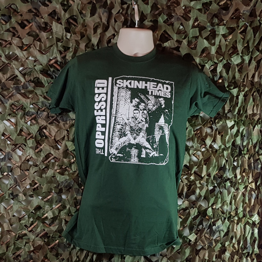 The Oppressed - Skinhead Times - Bottle Green Tee