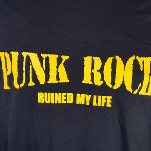 Control - Punk Rock Ruined My Life -  Men's Black T-shirt