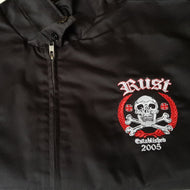 RUST - A Decade Of Corrosion - Harrington Jacket includes huge back embroidery