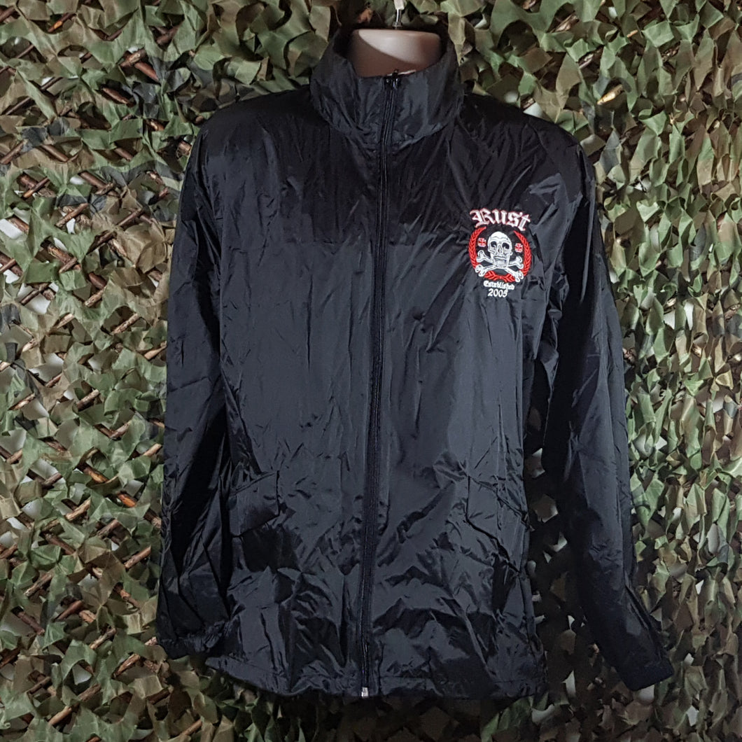 RUST - Rain Jackets/Wind Cheaters With Band Embroidery