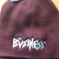 The Business - Burgundy - Embroidered Beanie
