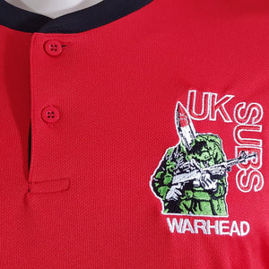 UK Subs -  Warhead - Red Sports Tee with Black Trim