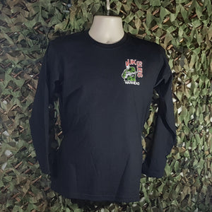UK Subs - Warhead Embroidered, Black, Long Sleeve Men's T-Shirt