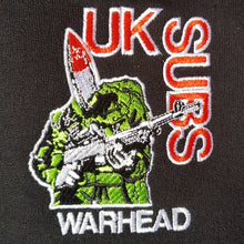 UK SUBS - Warhead - Embroidered Hoodie without Back Piece
