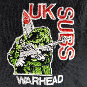 UK Subs - Warhead - Black Polo with White Trim