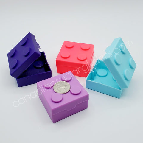 Hollow Plastic Lego Block Treat Boxes