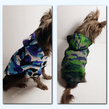Dog Clothes Camo Hoodie Sweater - Canadian Sugar Gliders