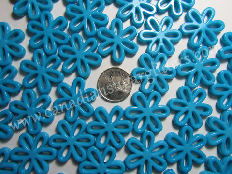Charms Large Daisy Turquoise 25 count - Canadian Sugar Gliders